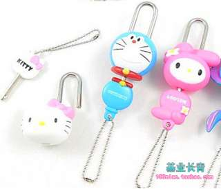 hello kitty cute Lock & Key,doraemon Stitch pooh spongebob cartoon
