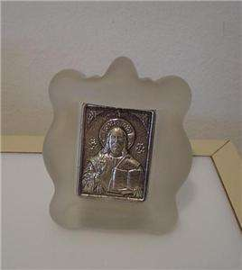 FIGURE OF JESUS CHRIST BYZANTINE ICON STERLING 925 3