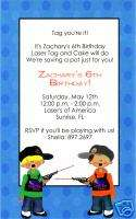 Personalized Boys Laser Tag Birthday Invitations~Lazer