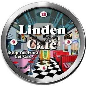 LINDEN 14 Inch Cafe Metal Clock Quartz Movement: Kitchen