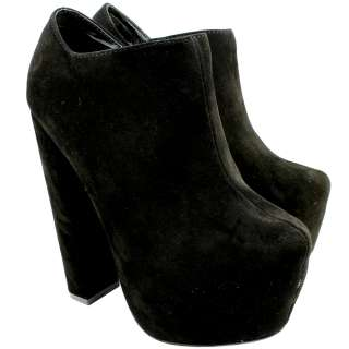BLOCK HEEL SUEDE ANKLE SHOE BOOTS LACE UP HIGH PLATFORM LADIES NEW 3 8