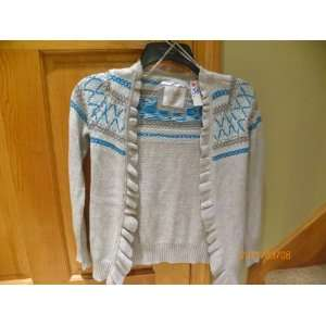 Justice girls gray blue sweater size 16