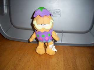 Garfield Easter Egg Garfiled 8 Stuffed Plush Doll MINT