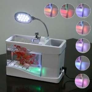 USB Desktop Lamp Light Colorful LED Aquarium White