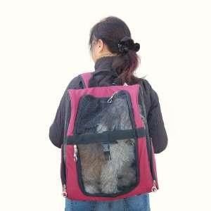 Backpack Pet Carrier   Burgundy
