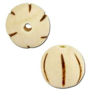 10mm White Round Burnt Wood Beads Arts, Crafts & Sewing