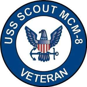 US Navy USS Scout MCM 8 Ship Veteran Decal Sticker 3.8 6