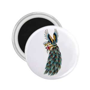 NEW Tattoo Peacock Bird Fridge Souvenir Magnet 2.25 Free