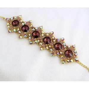 Bridal Diamond Pattern Crystal Rhinestone Bracelet 04