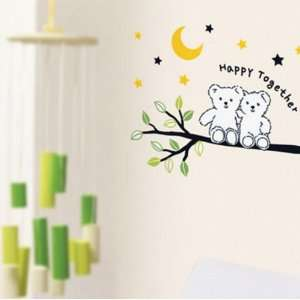 Home Art Decor Wall Sticker Bear 60x33cm