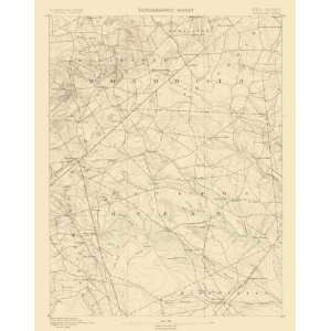 USGS TOPO MAP CASSVILLE QUAD NEW JERSEY (NJ) 1885
