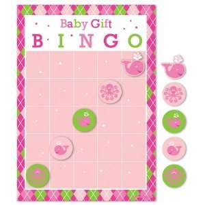Whale Themed Baby Shower Gift Bingo   Girl