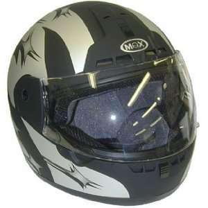 Max603 Dot Flat Black Full Face Motorcycle Helmet Large