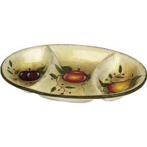 Davco Tuscany fruit design large oval plate:  Kitchen