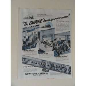 New York Central System. 40s full page print ad. (new