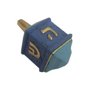 Ceramic. Gold Lettering and Trim Design. Aqua and Blue Colored. Hand