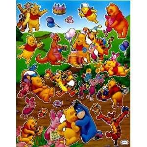 Pooh & Friends Birthday Party STICKER SHEET TM071 ~ birthday cake
