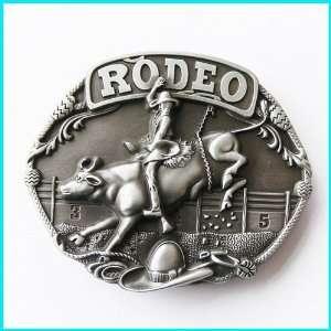 Color Enamel Bull Rider Rodeo Belt Buckle WT 085AS