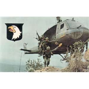 Post Card: Airborne in Action in Vietnam in 1971, C.B.S. Card Service