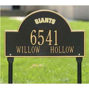 San Francisco Giants Black and Gold Personalized Address