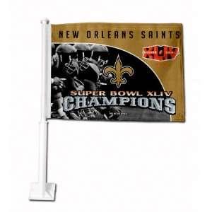 New Orleans Saints Super Bowl Xliv Champs Car/Truck Window Flag