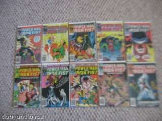 Lot 10 Marvel Comics POWER MAN & IRON FIST#02149 1980+