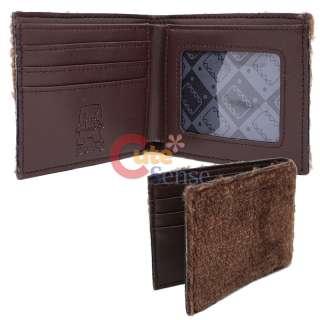 Domo Kun Plush Wallet Unisex Bi Fold Plush Leahter Wallet Licensed