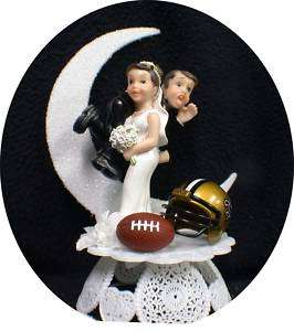 New Orleans Saints NFL Football Wedding Cake Topper top
