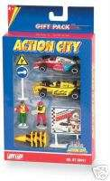 Action City Car Racing 10pc Play Set NEW!