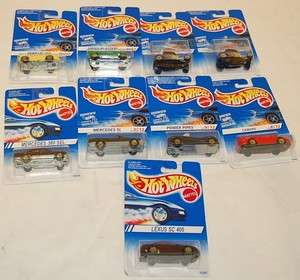 Hot Wheels Set of 9 Cars France Gold Spoke Wheels