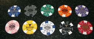 Yellowstone Harley Davidson Set of 10 Custom Poker Chips
