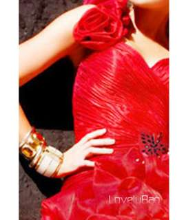Lovely Red Party Girl Flower Sexy Ball Cocktail Dress
