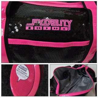 FYDELITY   ROCK STEADY STUDIO 54 PINK & BLACK GYM BOOMBOX BAG / ROLLER
