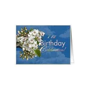 Birthday Party Invitation White Flower Blossoms Card Toys & Games