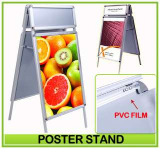 Double Side Snap A Frame Sidewalk Poster Stand Sign Holder Board W
