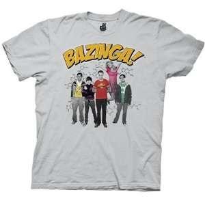 Big Bang Theory Shirt Bazinga Group   Ice Grey Sports
