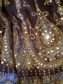 The Audrey Skirt  Fabulously Long Embellished Boho Hippie Maxi CHELSEA