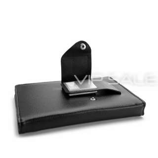 TOUCH BLACK LEATHER COVER CASE WITH BUILT IN LED READING LIGHT