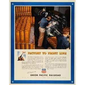com 1943 Ad Union Pacific Railroad Freight Train WWII War Production