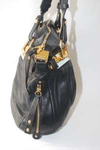 MAKOWSKY CANTERBURY BLACK LEATHER LARGE SATCHEL SHOULDER BAG HANDBAG