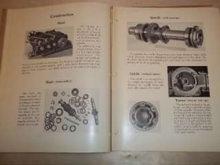 Vtg Jones&Lamson Machine Catalog~Flat Turret Lathe J&L