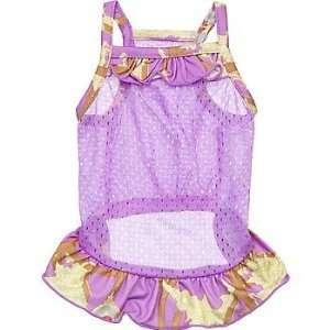 Royal Animals Purple Mesh Dog Dress, Medium: Pet Supplies