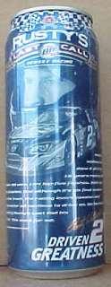 MILLER LITE BEER 24oz Can, RUSTY WALLACE, NASCAR Racing