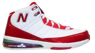 New Balance Mens BB889RD Basketball Shoe Red & White   Medium Width
