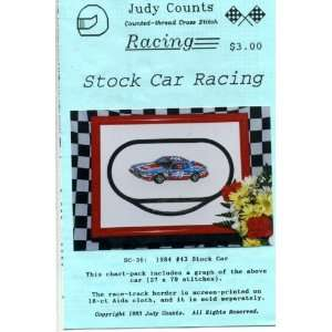 Thread Cross Stitch #43 Stock Car Racing Pattern Office Products