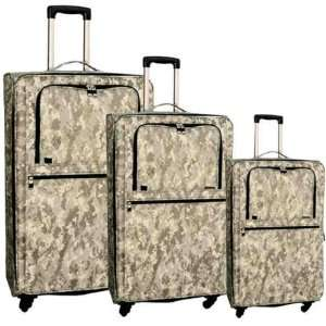 Piece Upright Camouflage Luggage Set Travel Bags