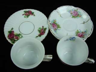 Vintage Mixed Vintage Tea Cup & Saucer Gold Paint Royal Sealy Leftons