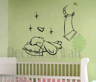 Nursery Baby Kids Room Decor Vinyl Wall Decal Sticker
