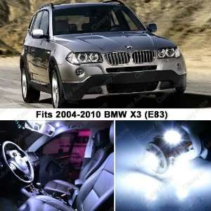 BMW X3 WHITE LED Lights Interior Package Kit E83 (12 PIECES)