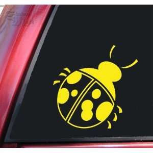 Lady Bug Vinyl Decal Sticker   Yellow Automotive